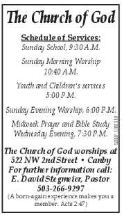 Best Church with Sunday Schedule & Evening Services in Canby