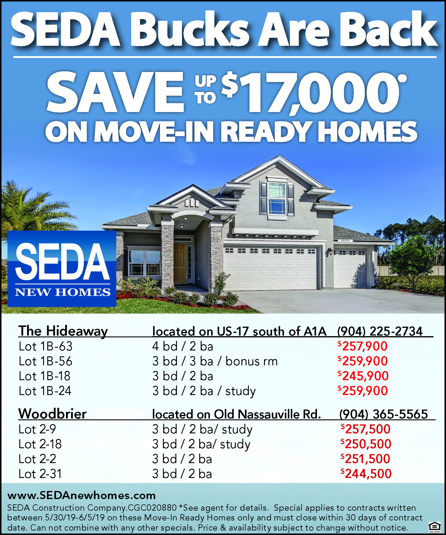 SEDA Bucks Are Back in Camden, GA, Apartments & Condos