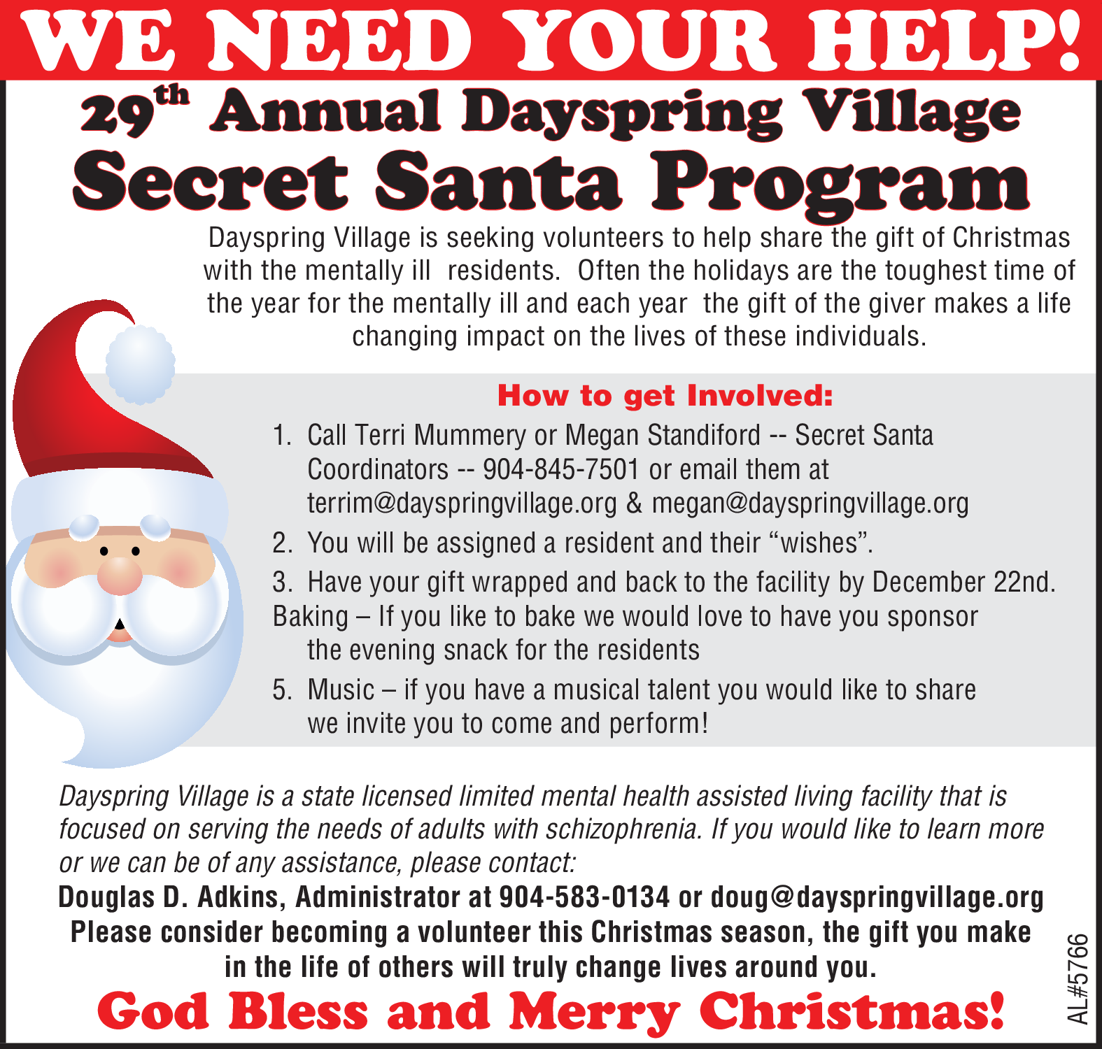 Annual Dayspring Village Secret Santa Program In Hilliard Fl